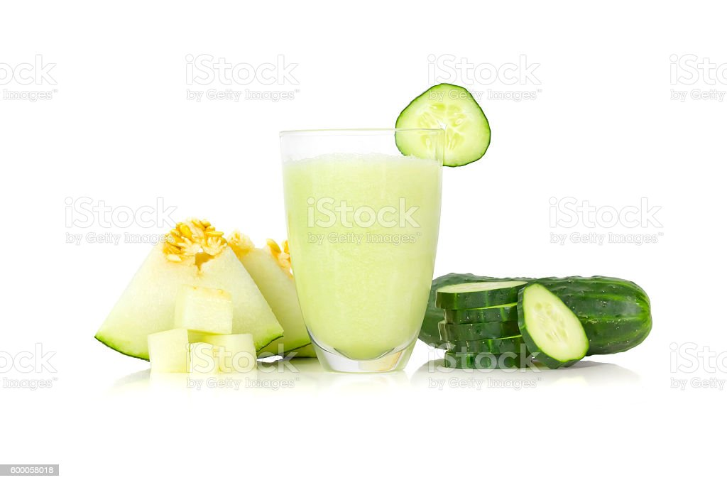 Melon and cucumber drink stock photo