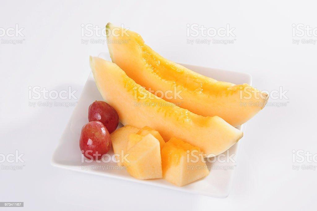 Melon Dish stock photo