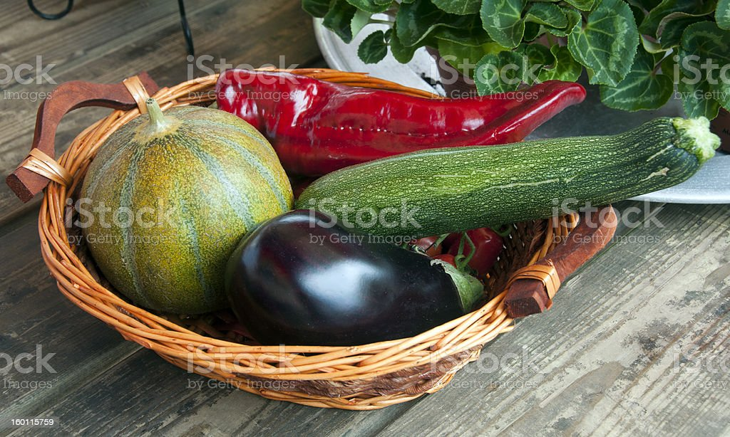melon eggplant and other vegetables royalty-free stock photo