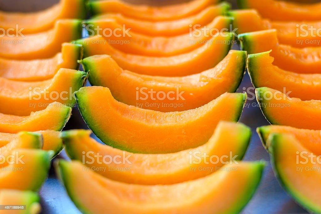melon on dish stock photo