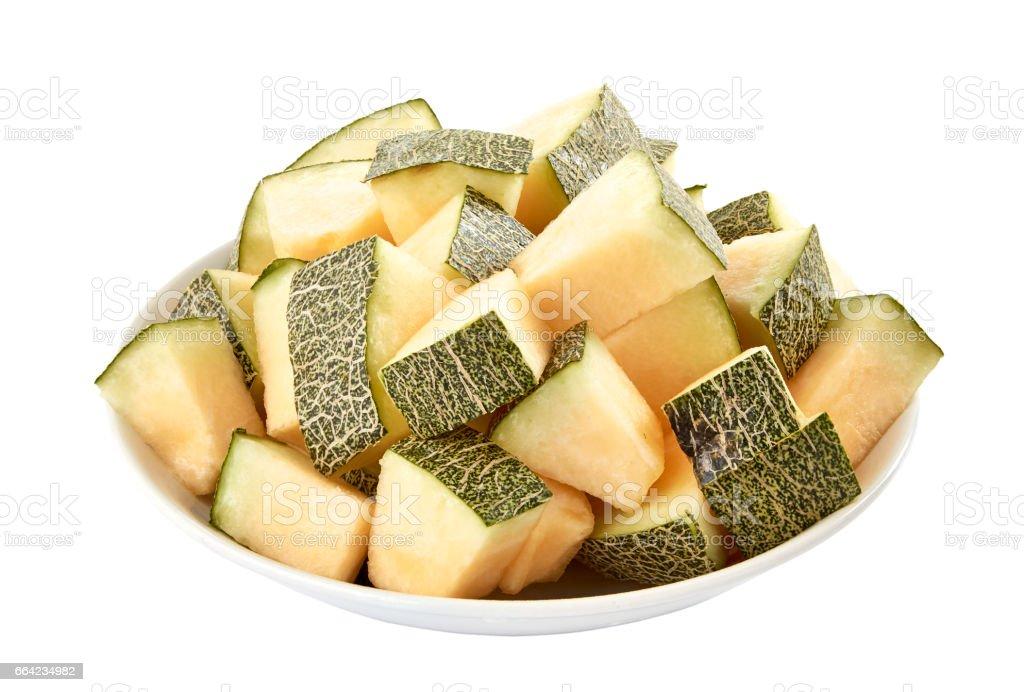 Melon slices stack stock photo