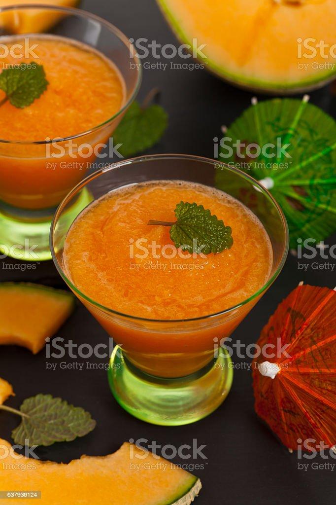Melon Smoothie stock photo