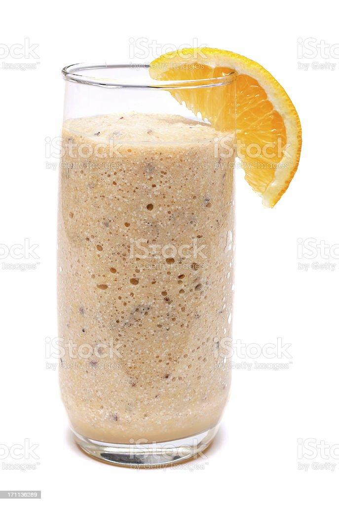 melon-orange smoothie stock photo