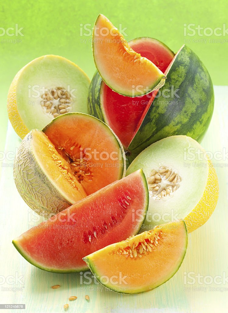 melons and watermelon stock photo
