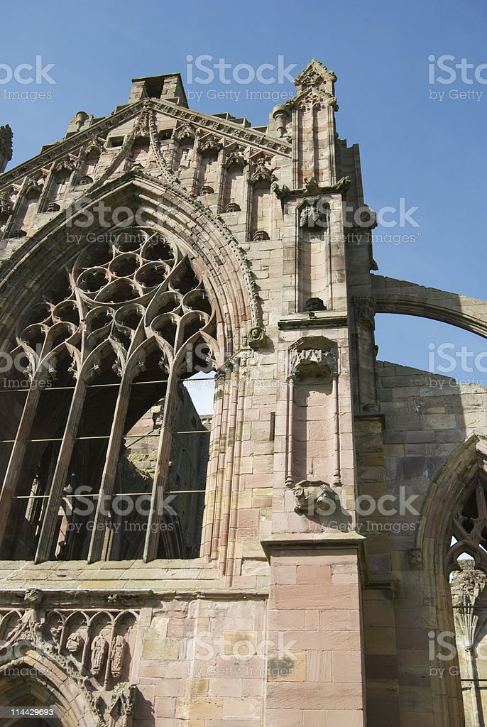 Melrose Abbey stock photo