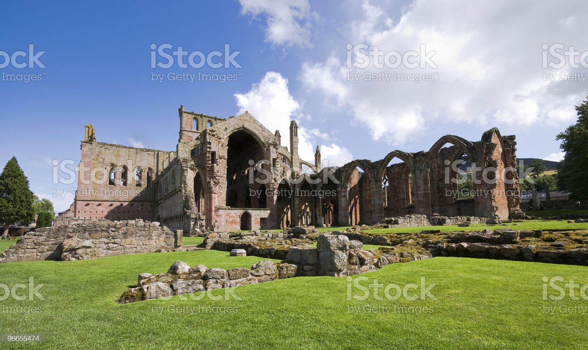 Melrose Abbey, Scotland royalty-free stock photo