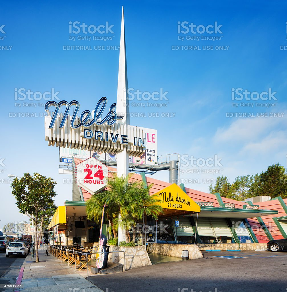 Mel's drive-in on Sunset Strip West Hollywood Los Angeles stock photo