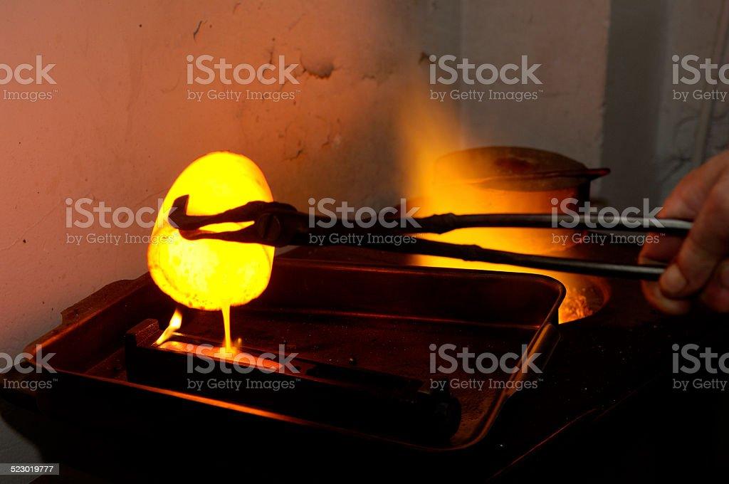 melt iron stock photo