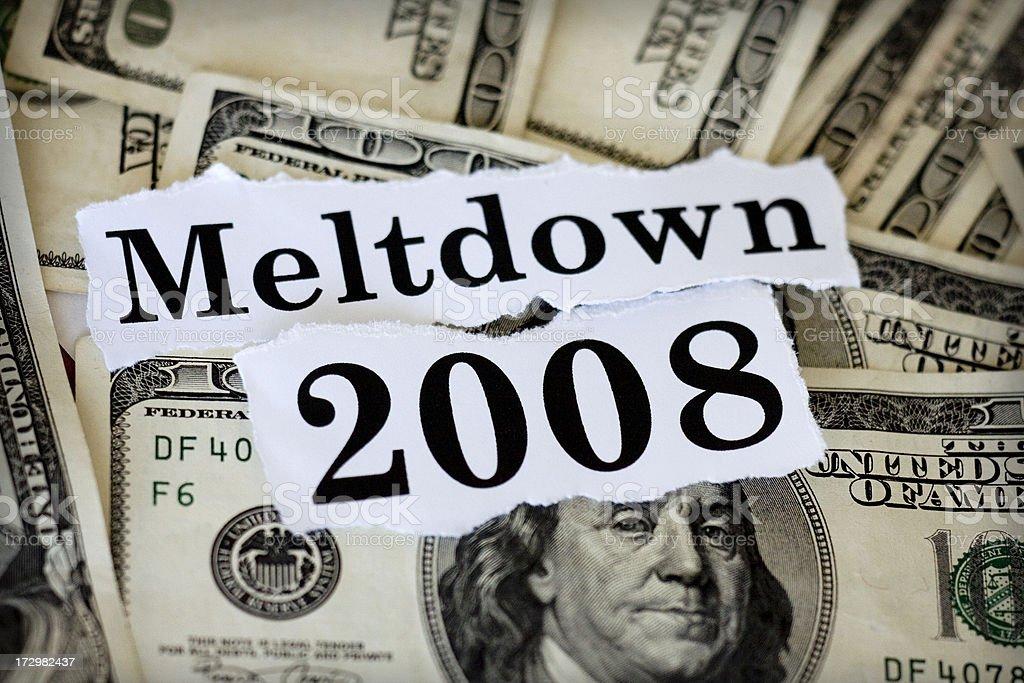 meltdown stock photo