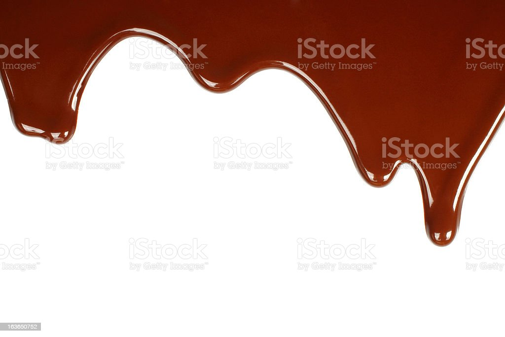 Melted chocolate dripping royalty-free stock photo
