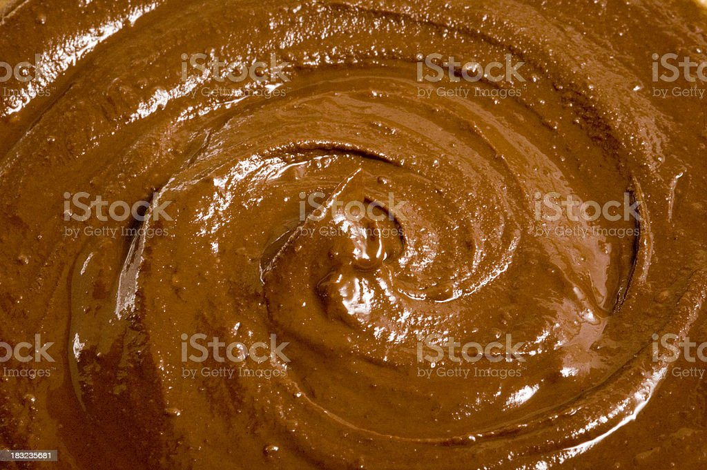 melted chocolate swirl stock photo