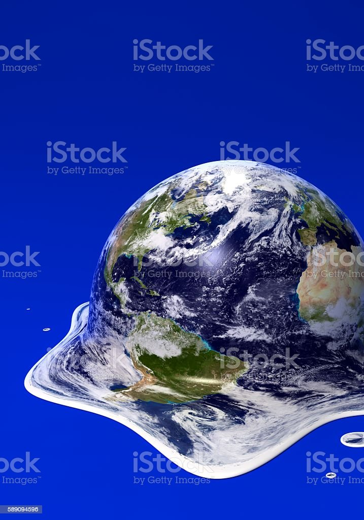 Melted earth stock photo