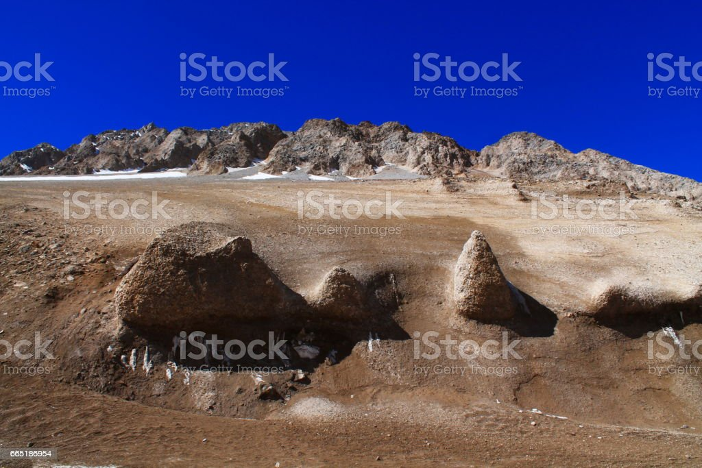 melted glacier stock photo