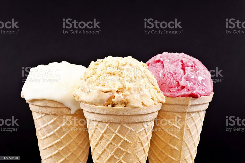 Melted ice cream royalty-free stock photo