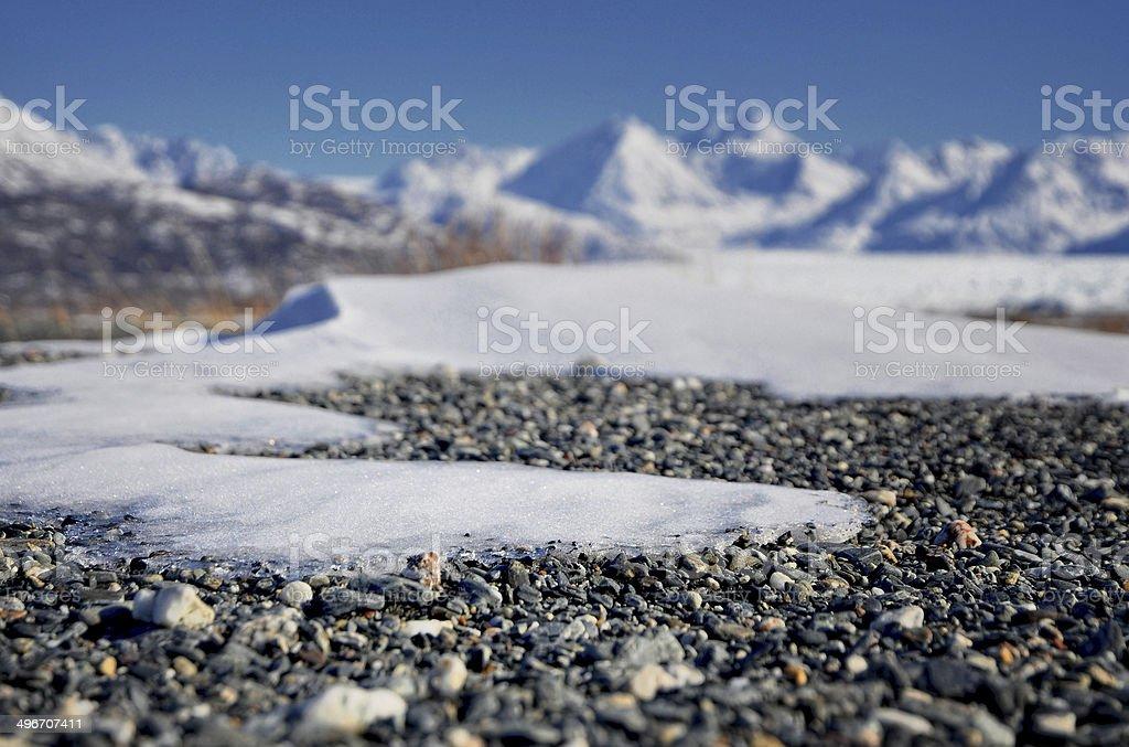 Melting Alaskan Glacier Landscape royalty-free stock photo