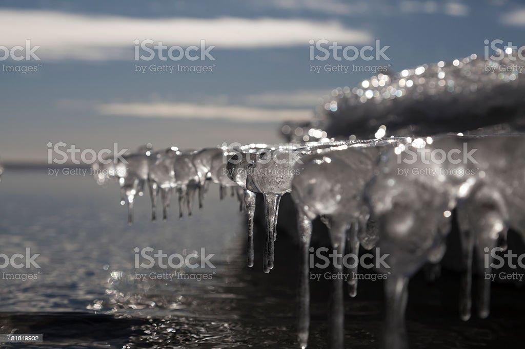 Melting and freezing royalty-free stock photo