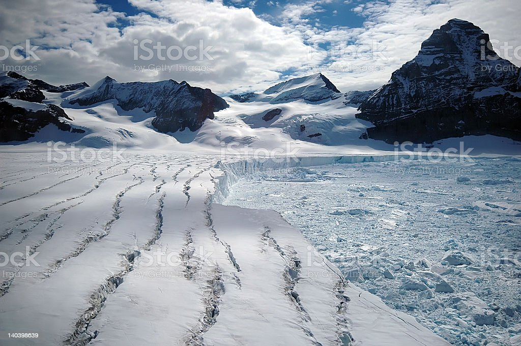 Melting Antarctic glacier stock photo