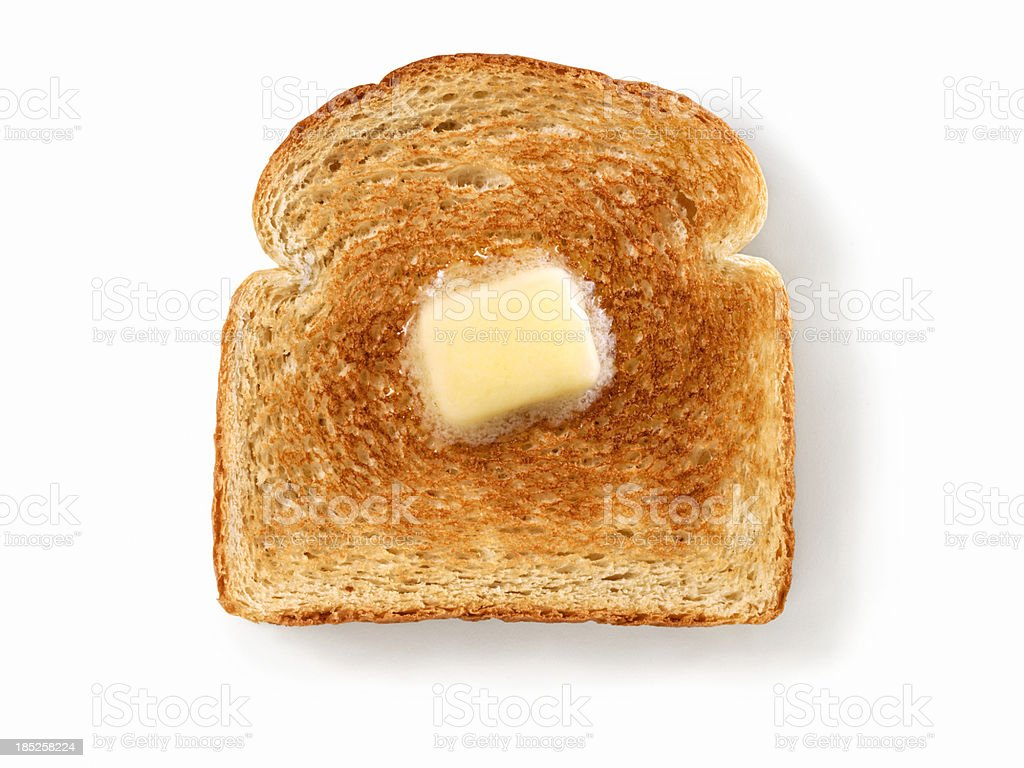 Melting Butter on White Toast royalty-free stock photo