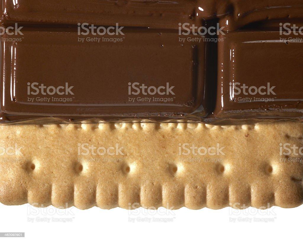 melting chocolate on shortbread royalty-free stock photo