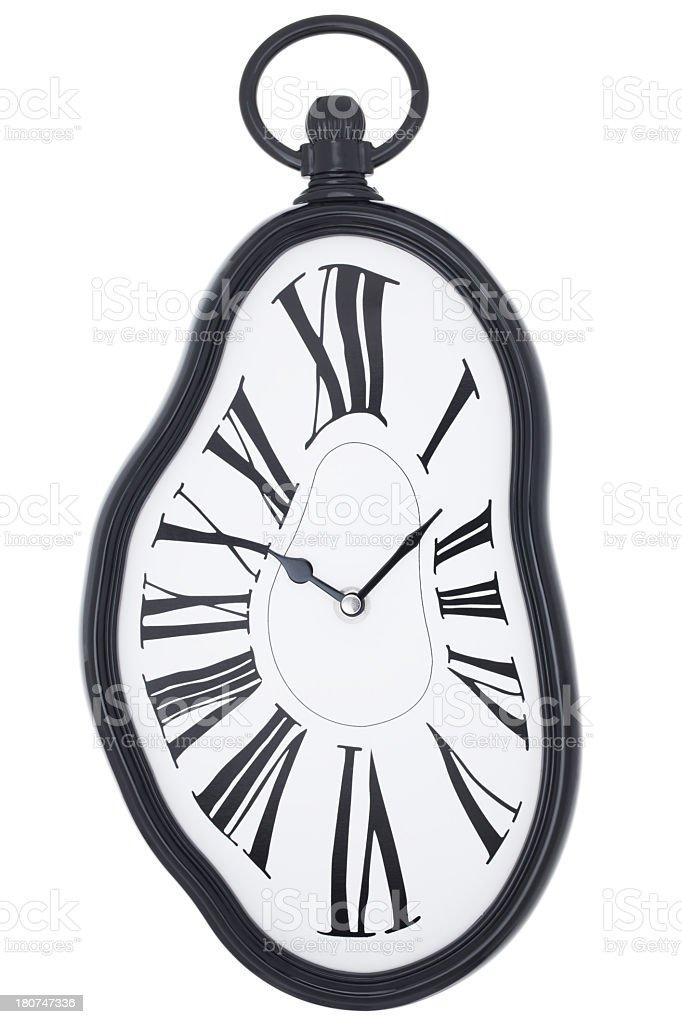 Melting clock royalty-free stock photo