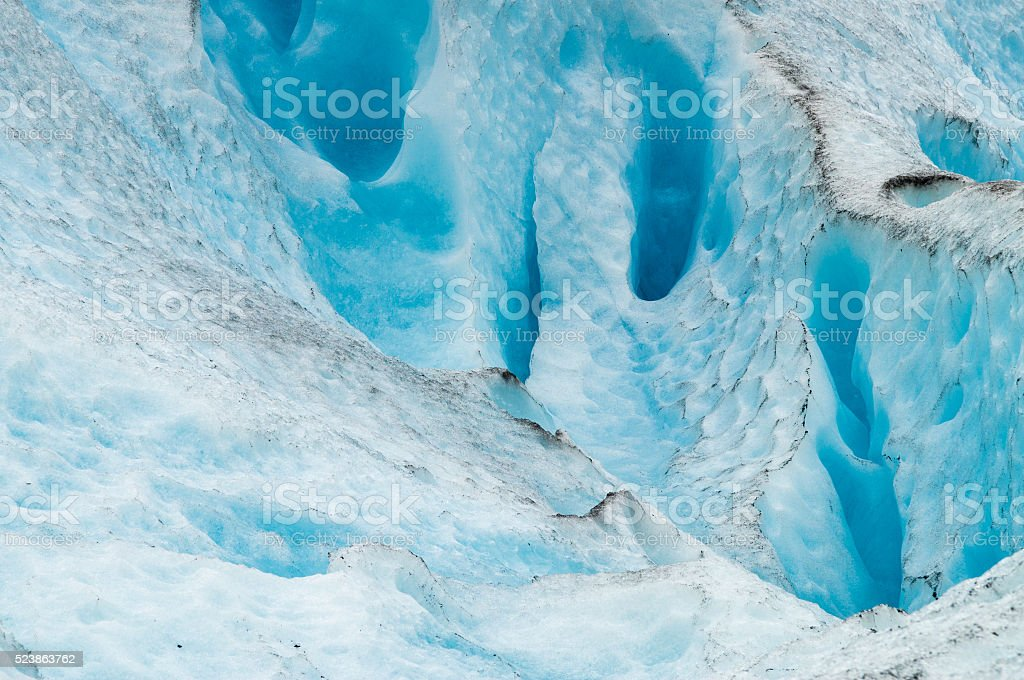 Melting glacier closeup view stock photo
