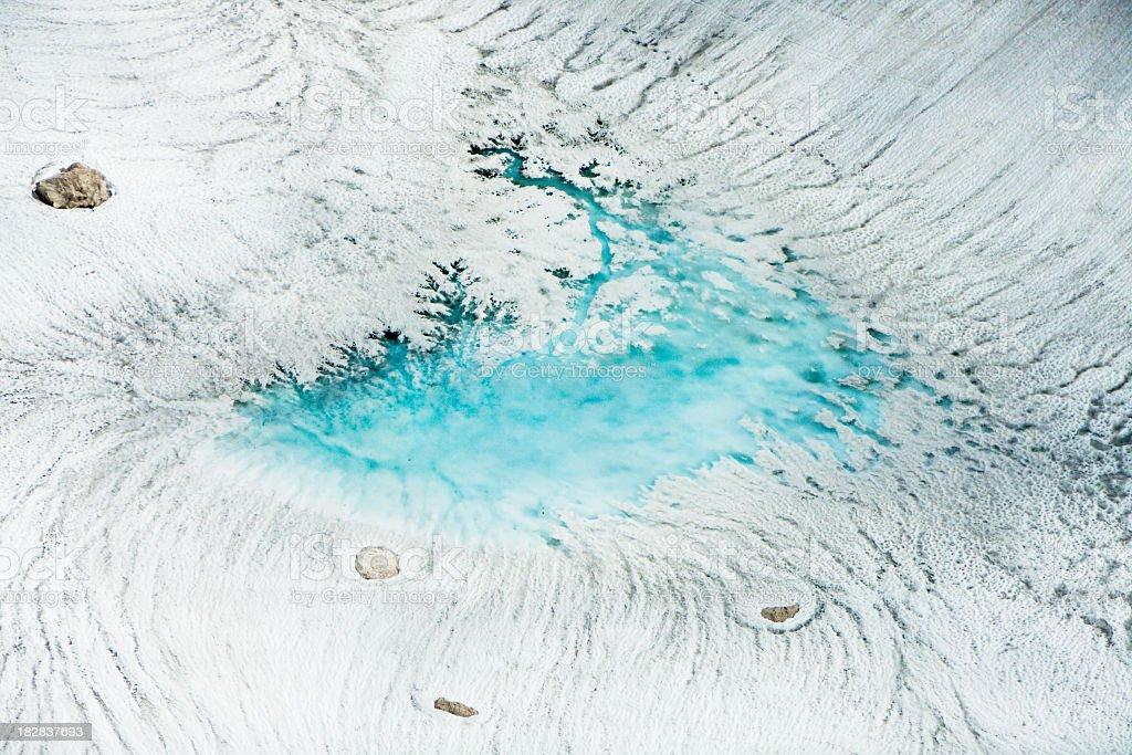 Melting Glacier (Aerial) royalty-free stock photo