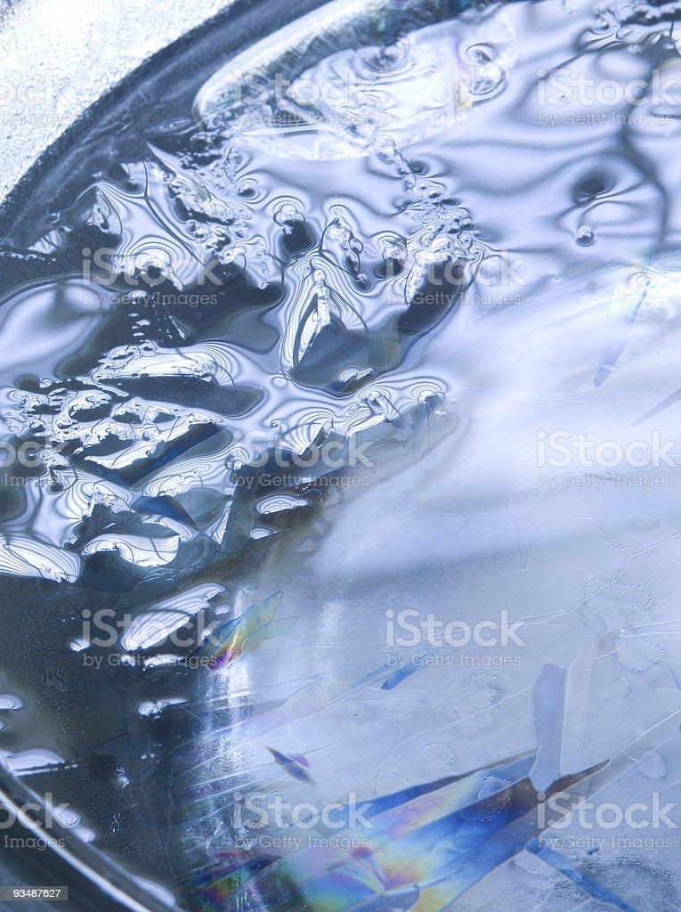 Melting ice close-up royalty-free stock photo