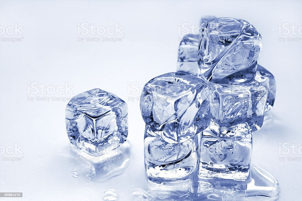 melting ice cubes royalty-free stock photo