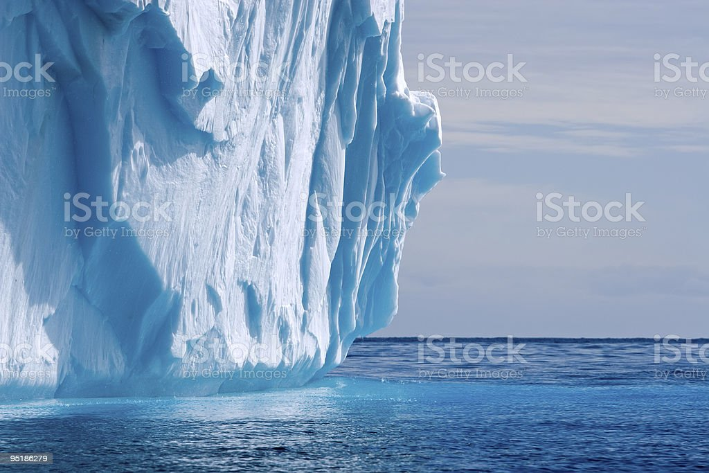melting iceberg detail stock photo