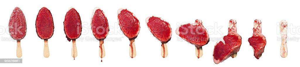 Melting ice-cream stock photo