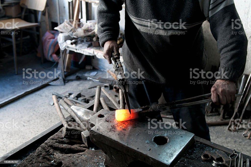 Melting Iron stock photo