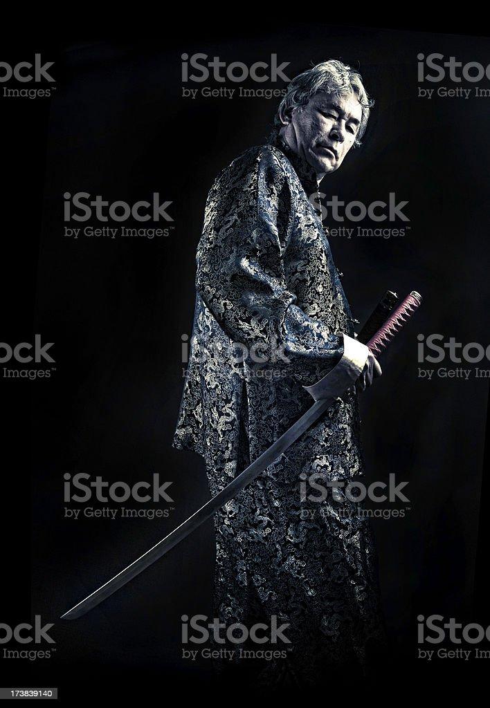 melting pot swordsman stock photo