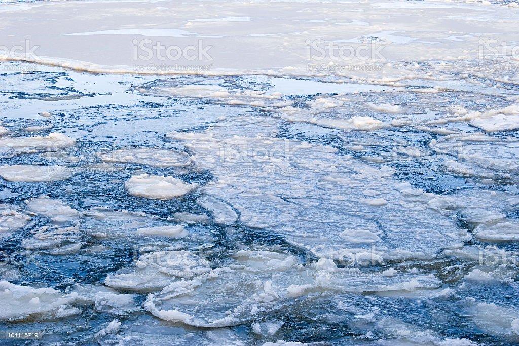 Melting Sea Ice royalty-free stock photo