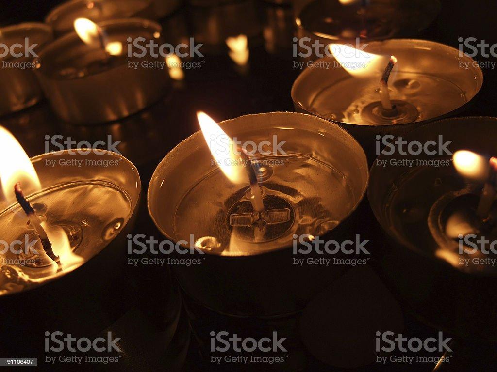 melting tealights royalty-free stock photo