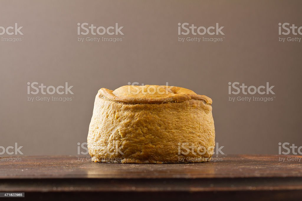 Melton Mowbray pork pie no wrapper stock photo