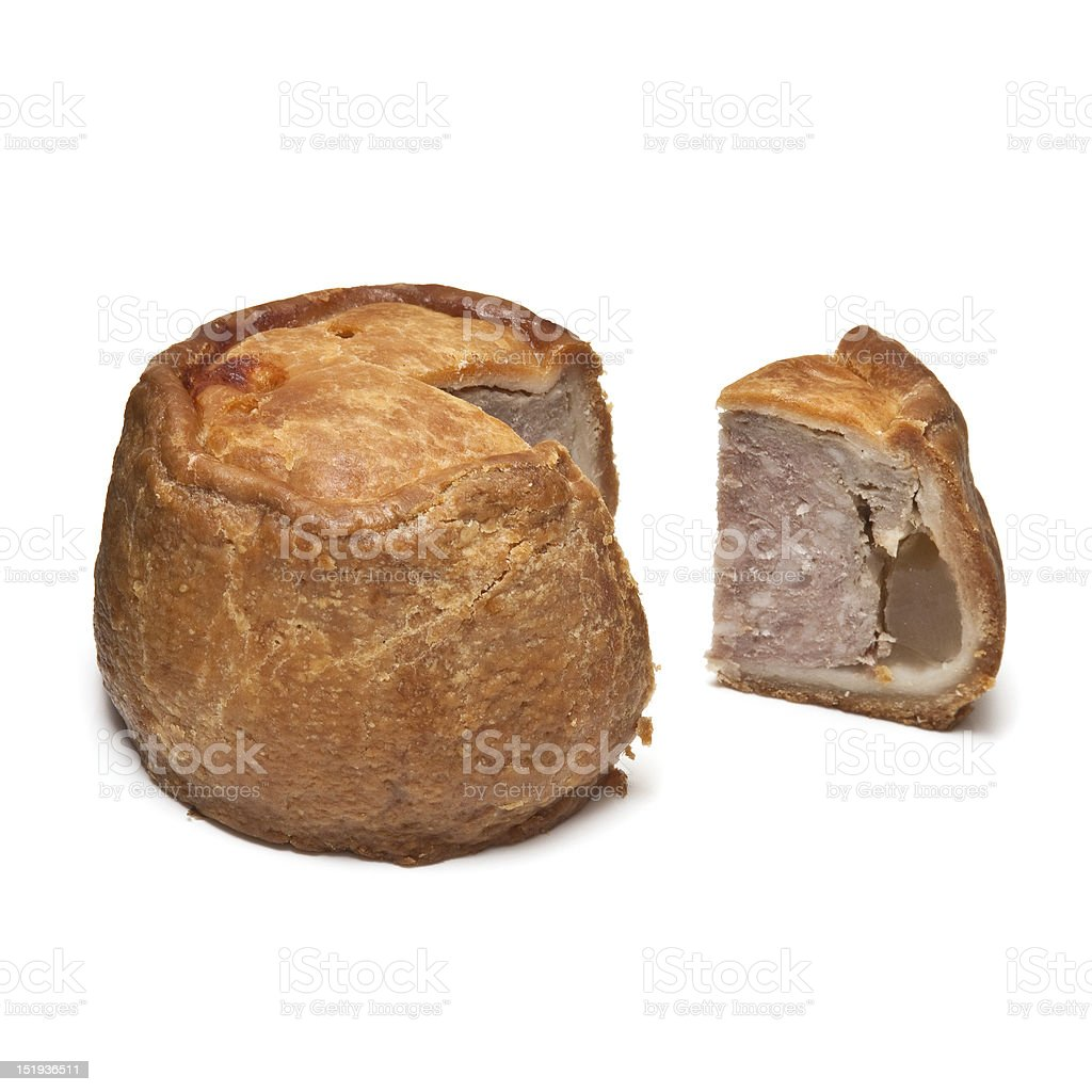 Melton Mowbray pork pie. stock photo