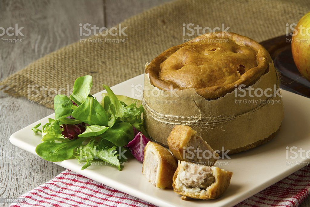 Melton Mowbray pork pie stock photo