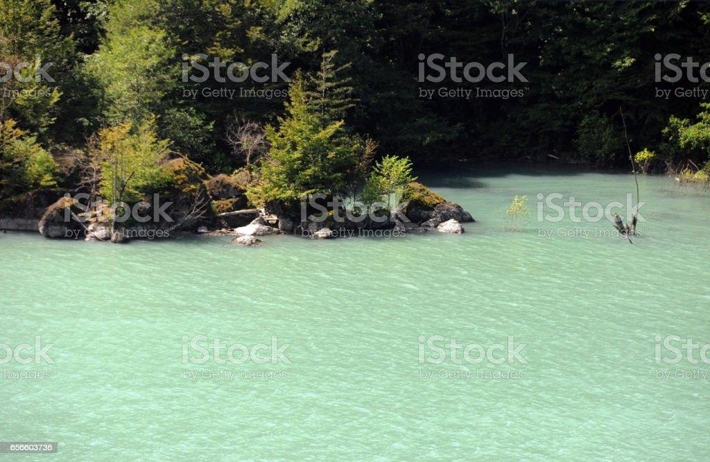 Meltwater Lake in Georgia, Europe. stock photo