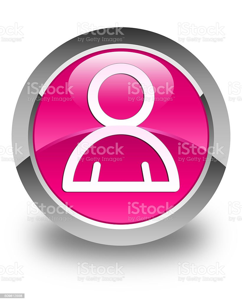 Member icon glossy pink round button stock photo