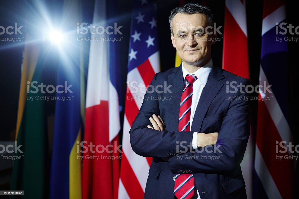 Member of political party stock photo
