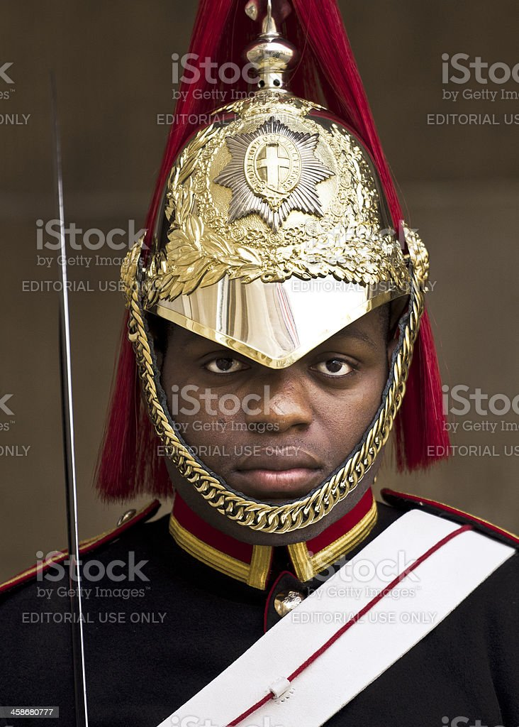Member of the Royal Horse Guards royalty-free stock photo