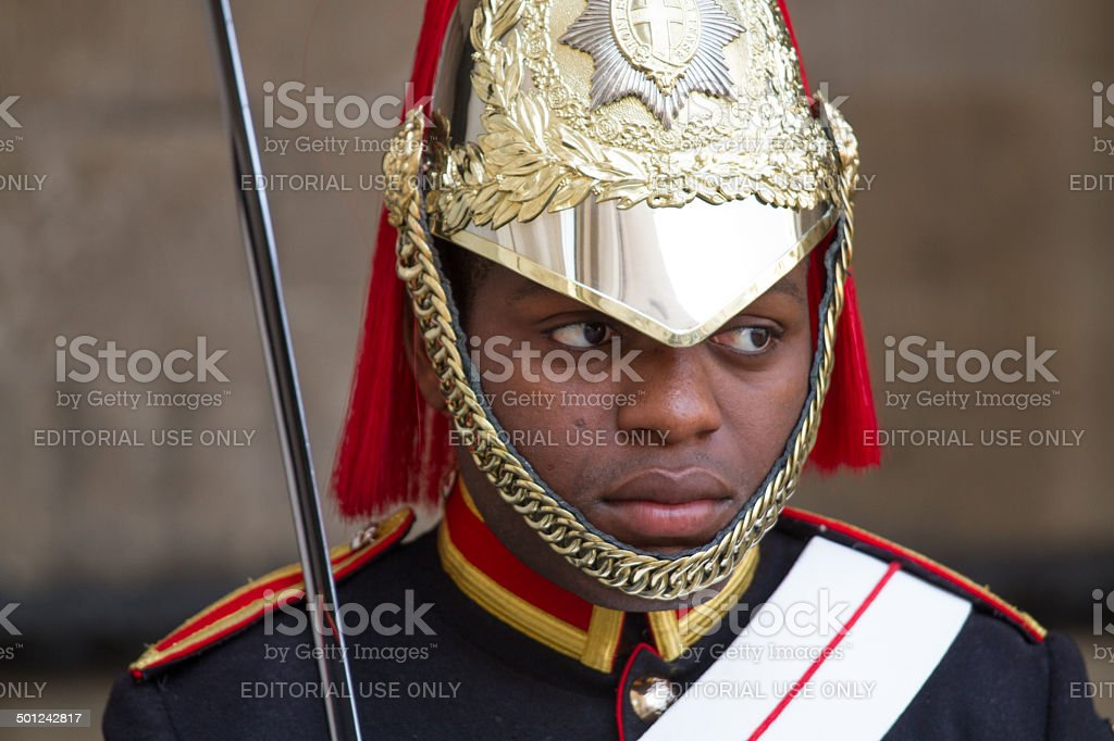 Member of the Royal Horse Guards stock photo