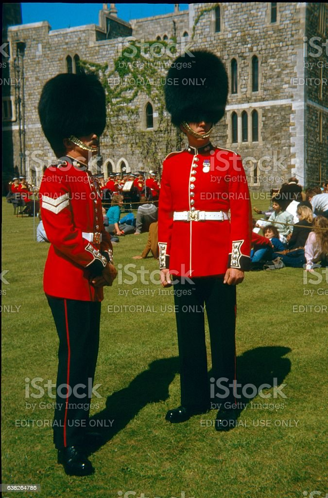 Members of the British Grenadier Guards stock photo