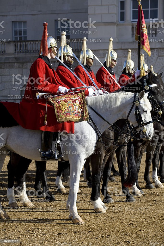 Members of the Household Cavalry Guards Parade royalty-free stock photo