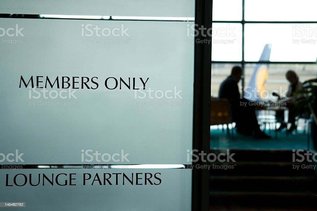 Members only stock photo