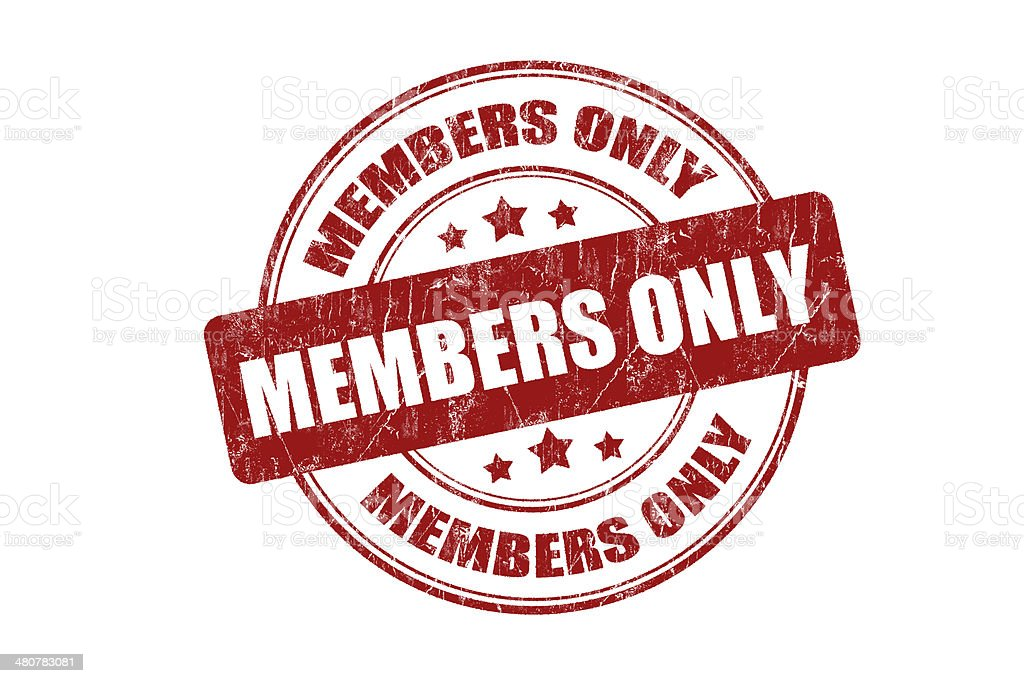 Members Only Rubber Stamp royalty-free stock photo