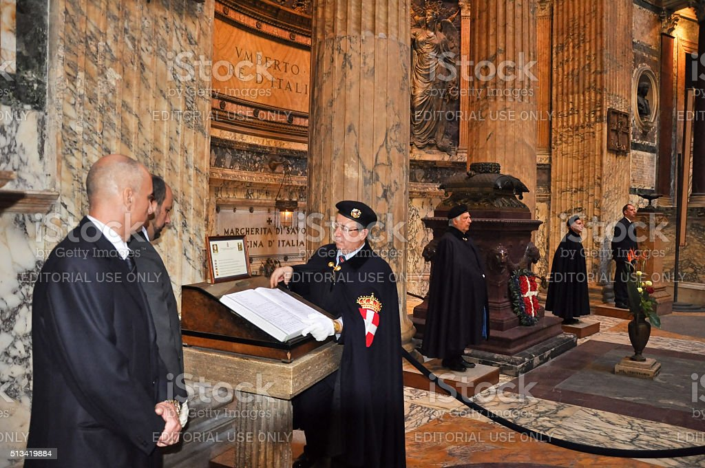 Members the House of Savoy in Roman Pantheon. Italy. stock photo
