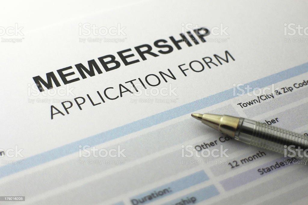 Membership Application form royalty-free stock photo