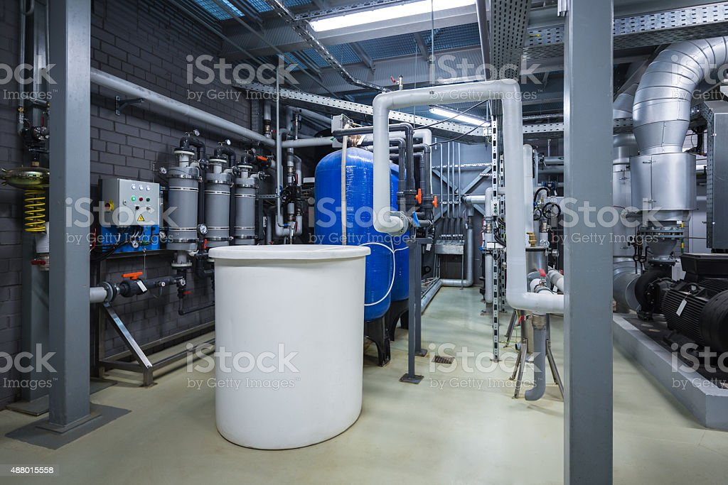 Membrane deaeration system stock photo