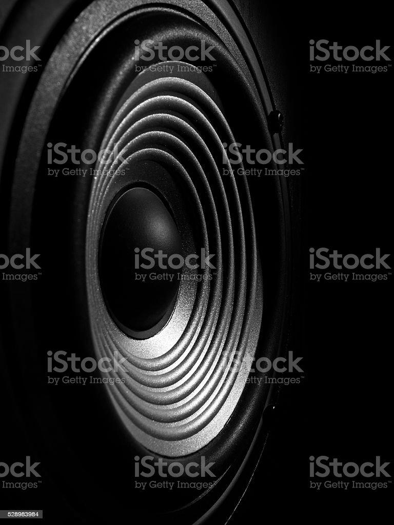 membrane of a sound speaker stock photo